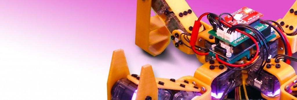 Un MetaBot créé par l'équipe Rhoban. Crédit Max Jumelle.